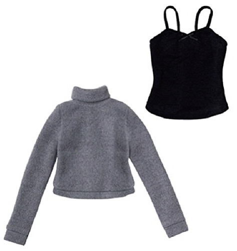 Azone FAO040-GRB Azo 2 Soft Turtlenec Sweater Set Gray x Black