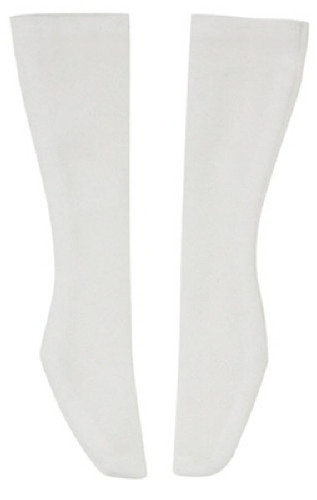 Azone FAO051-WHT Azo 2 School Socks White