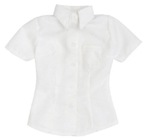 Azone FAO055-WHT Azo 2 Short Sleeve Y Shirt White