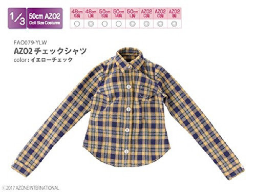 Azone FAO079-YLW Azo 2 Check Shirt Yellow Check
