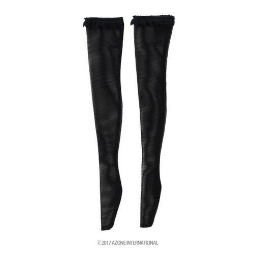 Azone FAO082-BLK Azo 2 Race Knee High Stockings II Black
