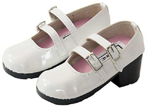 Azone FAR051-WHT 50cm doll Strap Shoes White