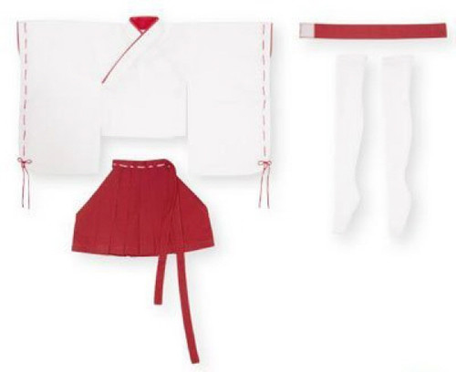 Azone FAR083-RED 50cm doll Mini Length Miko Clothes Set White x Red