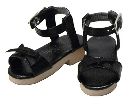 Azone FAR165-BLK for 50cm doll Wood Sole Sandal Black