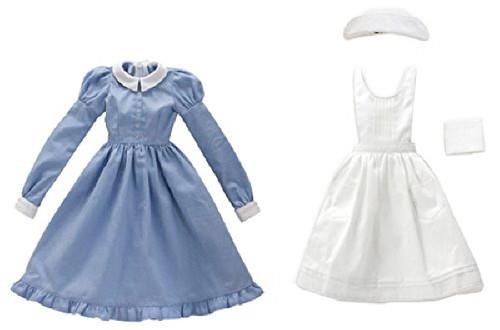 Azone FAR187-SAX for 50cm doll Classical Nurses Set White x Sachs