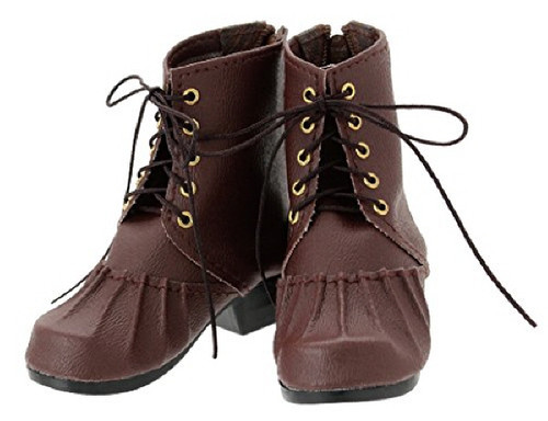 Azone FAR198-DBR for 50cm doll Girly Knitting Short Boots Dark Brown