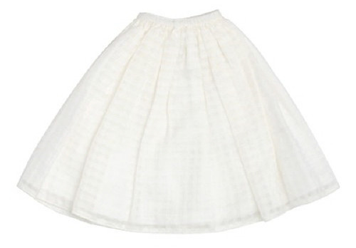 Azone FAR218-WHT for 50cm doll See-Through Skirt White