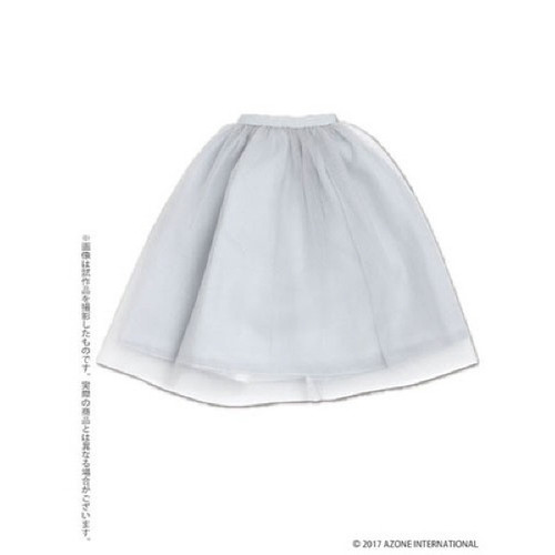 Azone FAR219-LGR for 50cm doll Tulle Skirt Light Gray