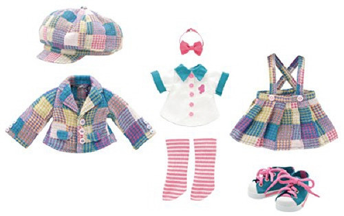 Azone KPT002-BLU Kinoko Planet School Girl Set Blue Green Multi Check