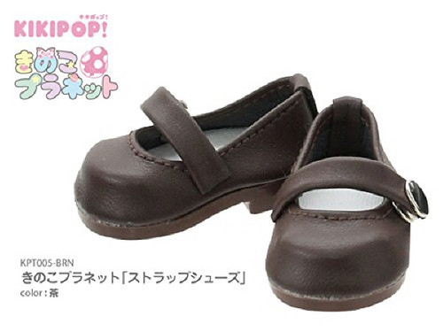 Azone KPT005-BRN Mushroom Planet 'Strap Shoes' Brown