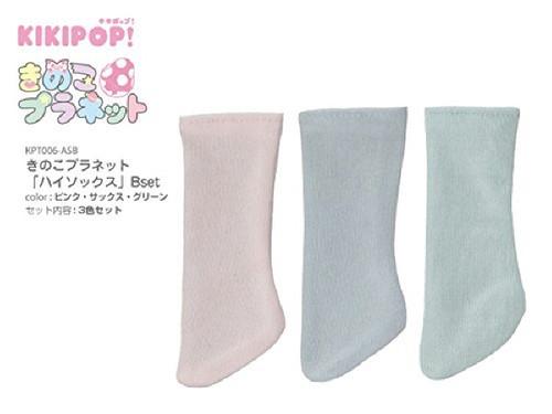 Azone KPT007-ASB Mushroom Planet 'High Socks' B Set Pink/Sax/Mint Green