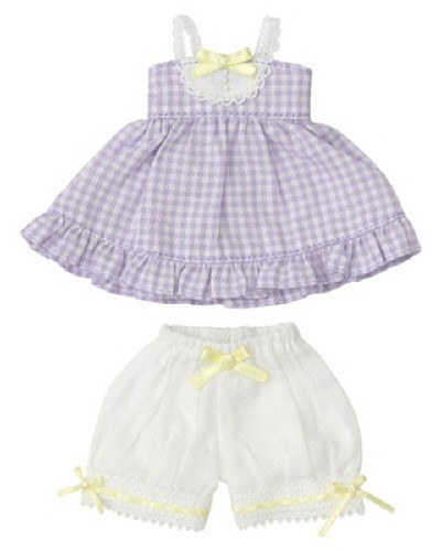 Azone KPT012-PPL Mushroom Planet 'Gingham Baby Doll Set' Grapes