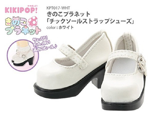Azone KPT017-WHT Mushroom Planet 'Tic Saul Strap Shoes' White