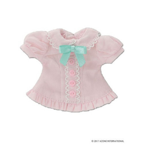 Azone KPT019-PNK Mushroom Planet 'Ribbon Frill Blouse' Pink