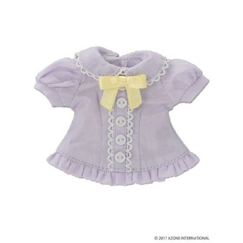 "Azone KPT019-PPL Mushroom Planet ""Ribbon Frilled Blouse"" Purple"