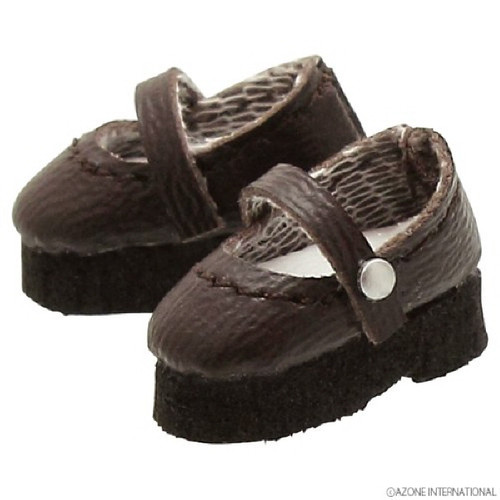 Azone PIC042-DBN 1/12 Strap Shoes Dark Brown