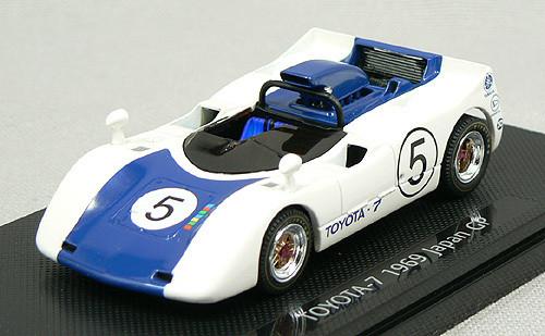 Ebbro 43665 Toyota 7 Japanese GP 1969 No.5 (White/Dark Blue) 1/43 Scale