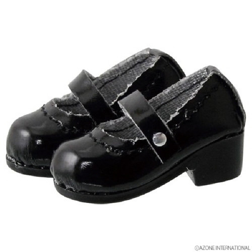 Azone PIC056-GBK 1/12 Pico D Strap Shoes Gross Black