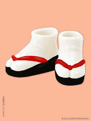 Azone PIC124-BKR 1/12 Soft Vinyl Sandals Black x Red