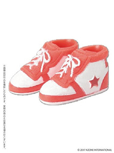 Azone PIC137-RDW 1/12 Soft Vinyl High Cut Sneaker Red x White