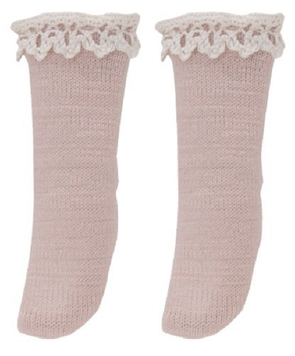 Azone PIC141-PNB 1/12 Pico D Cotton Lace Socks Pink Beige