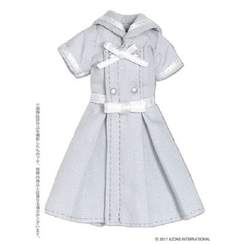 Azone PIC152-GRY 1/12 Ribbon Belt Sailor Dress Gray