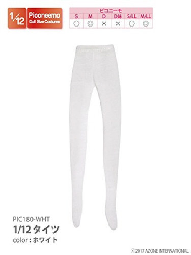 Azone PIC180-WHT 1/12 Tights White
