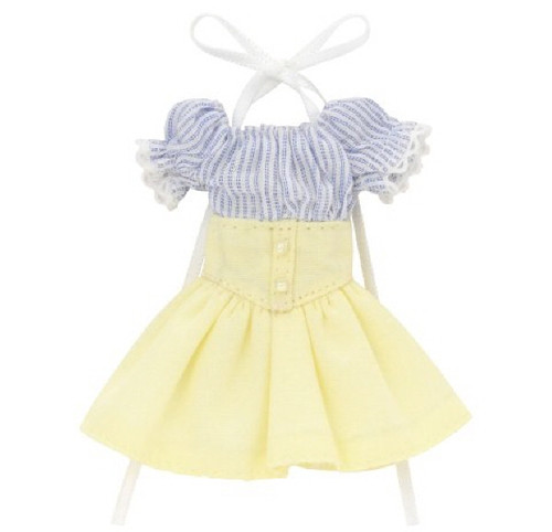 Azone PIC202-BLC 1/12 Off-Shoulder Sunny One Piece Dress Stripe x Cream Yellow