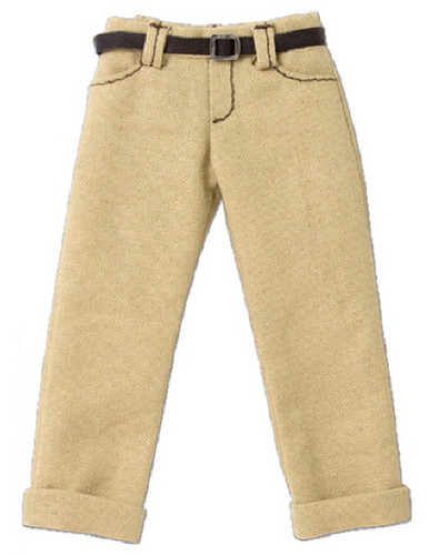 Azone POC436-BGE PNS Boy Low Rise Cropped Pants Beige