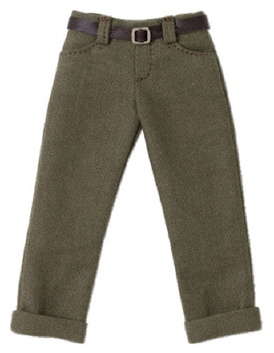 Azone POC436-KHK PNS Boys Low Rise Cropped Pants Khaki
