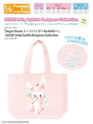 Azone POC441-PNK Sugar Dream Tote Bag by MAKI Pink