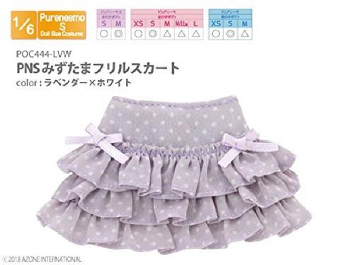 Azone POC444-LVW PNS Polka Dots Ruffle Skirt Lavender x White