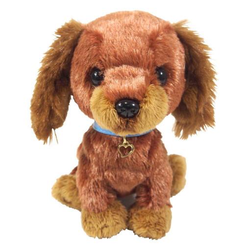 Sunlemon Plush Doll Pups! Miniature Dachshund Brown Size S