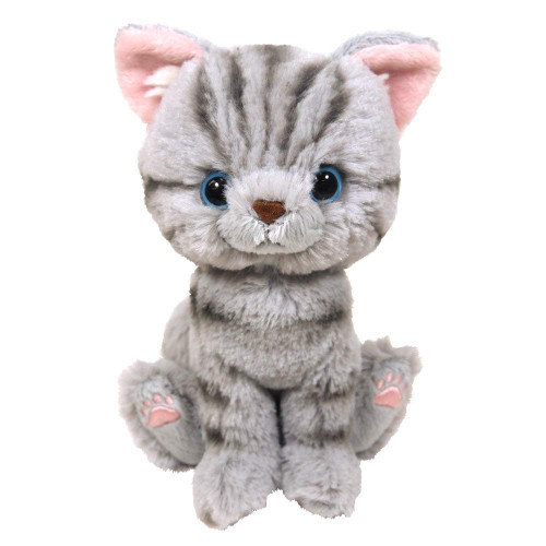 Sunlemon Plush Doll Kitten American Shorthair Gray Size S