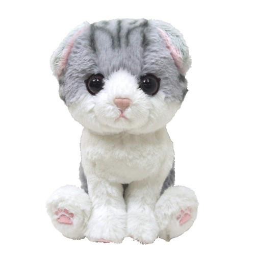 Sunlemon Plush Doll Kitten Scottish Fold Gray Size S
