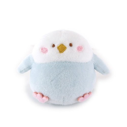 Sunlemon Plush Doll Hug Hug Motchiri Mini Series Parakeet Blue
