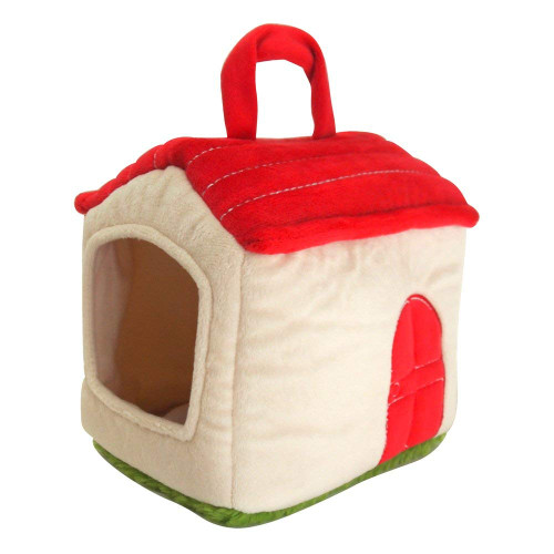 Sunlemon Plush Doll Plush House Bag Red Roof Hose
