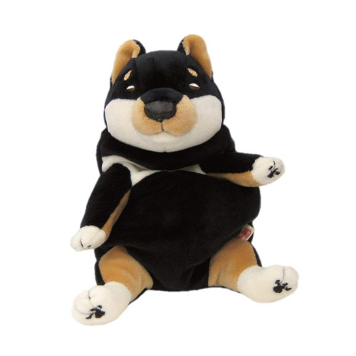 Shinada Global Plush Doll Mochi Inu Kuro (Black) Shiba Inu Size S