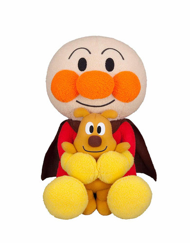 Sega Toys Plush Doll Suki Suki Dakko Series Anpanman & Cheese