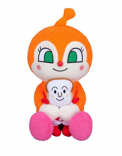 Sega Toys Plush Doll Suki Suki Dakko Series Dokin-chan & Shokupanman