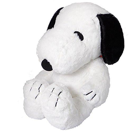 Nakajima Corporation Plush Doll Hug Hug Snoopy M Black