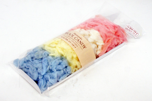 Hamanaka H441-124-2 Wool Candy Material Set Fluffy Pink/White/Yellow/Blue