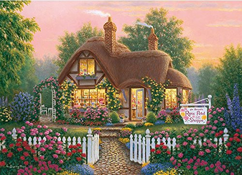 APPLEONE Jigsaw Puzzle 500-251 Richard Bums Rose Petol Shoppe (500 Pieces)