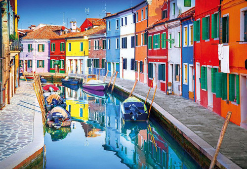 Epoch Jigsaw Puzzle 25-168 Coloured Houses Burano Italy (300 Pieces)