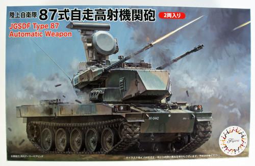 Fujimi 72M9 722948 JGSDF Type 87 Self Propelled Anti- Aircraft Gun 1/72 Scale kit