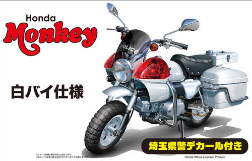 Fujimi Bike-15 EX-1 Honda Monkey Police Motorcycle Special Ver. (w/ Saitama Pref. Police Decal) 1/12 scale kit