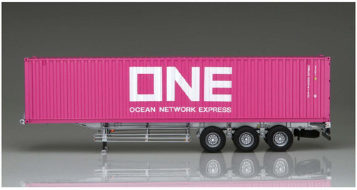 Aoshima 55847 Nippon Trex Container Semi-Trailer 40 feet 3 Axis / ONE Japan 1/32 Scale kit