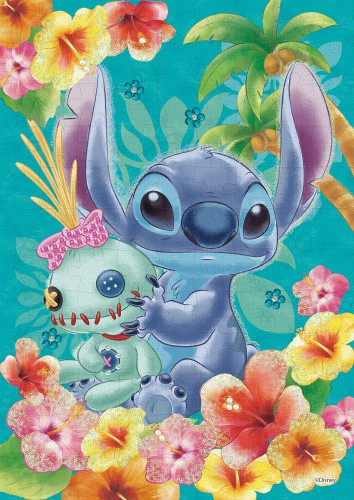 Epoch Jigsaw Puzzle Decoration 72-009 Disney Stitch Tropical Blue (108 Pieces)