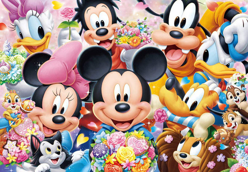 Tenyo Japan Jigsaw Puzzle D-1000-033 Disney Flower Bouquet to You Photogenic (1000 Pieces)