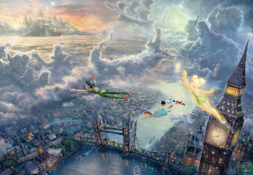 Tenyo Japan Jigsaw Puzzle D-1000-031 Disney Tinker Bell & Peter Pan Fly to Never Land (1000 Pieces)